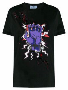 Prada Frankenstein hand print T-shirt - Black