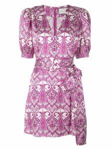 Alexis Bardot belted mini dress - Purple