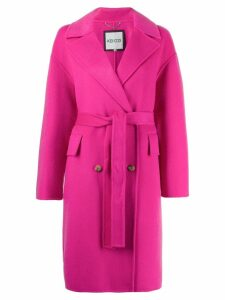 Kenzo double breasted belt coat - Pink