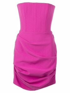Alex Perry off-shoulder short dress - Purple
