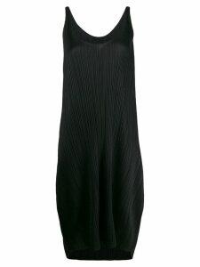 Pleats Please Issey Miyake scoop neck dress - Black