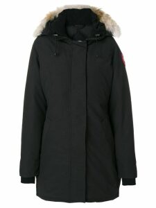 Canada Goose fur trim hooded coat - Black