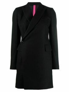 Y's wrap coat - Black