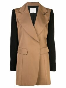 Tibi peaked lapel blazer - Brown