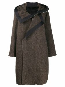 Rick Owens hooded coat - Brown