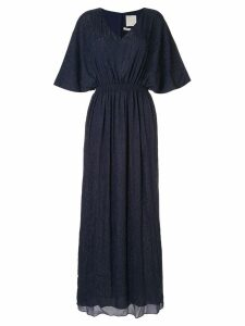 Ingie Paris lurex kaftan long dress - Blue