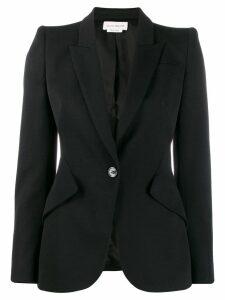 Alexander McQueen cropped sleeve blazer - Black