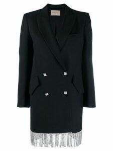 Giuseppe Di Morabito fringed tuxedo dress - Black