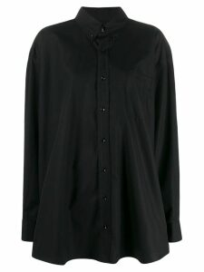 Maison Margiela oversized button down shirt - Black