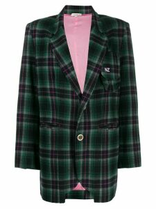 Natasha Zinko oversized plaid blazer - Green