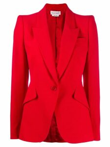 ALEXANDER MCQUEEN structured shoulder blazer
