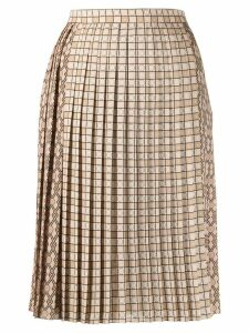 Burberry pleated midi skirt - NEUTRALS