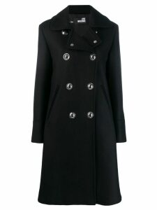 Love Moschino double-breasted coat - Black