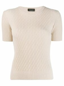 Roberto Collina ribbed knitted top - Neutrals
