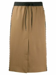 P.A.R.O.S.H. studded track skirt - Brown