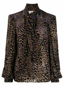 Giuseppe Di Morabito leopard print blouse - Brown