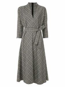 Martha Medeiros Luzia midi checked dress - Grey