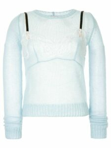 Nº21 two-layer knitted jumper - Blue