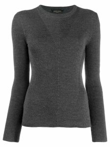 Roberto Collina ribbed sweatshirt - Grey