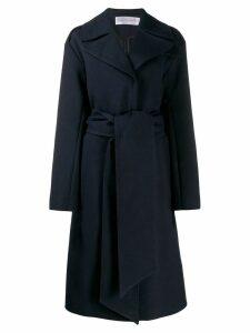 Victoria Victoria Beckham belted mid-length coat - Blue