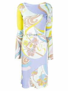 Emilio Pucci mid-length printed dress - Yellow