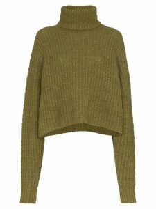 Simon Miller cropped turtleneck jumper - Green