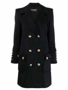 Balmain double breasted coat - Blue
