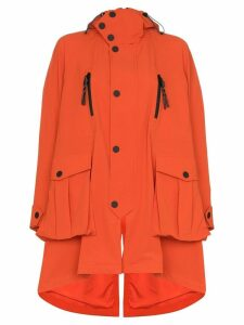 Angel Chen embroidered hooded parka coat - Orange