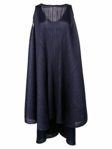 Pleats Please Issey Miyake pleated shift dress - Blue