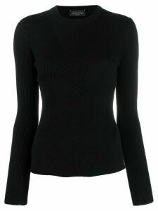 Roberto Collina ribbed sweatshirt - Black