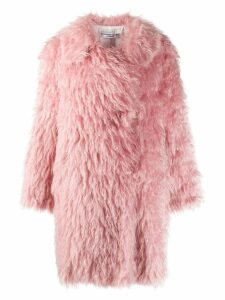 Katharine Hamnett London oversized faux fur coat - Pink