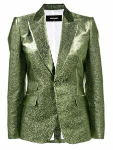 Dsquared2 fitted metallic blazer - Green