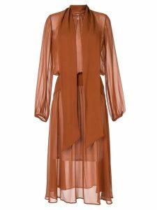 Nº21 gathered drape dress - Brown