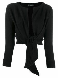 Dolce & Gabbana tied front cardigan - Black