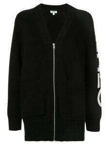 Kenzo logo zipped cardigan - Black