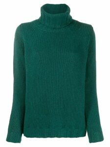 Incentive! Cashmere roll neck jumper - Green