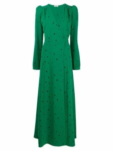 P.A.R.O.S.H. long V-neck dress - Green
