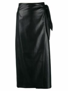 Nanushka wrap pencil skirt - Black