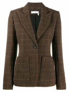 Chloé checked fitted blazer - Brown