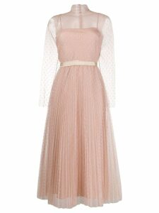 Red Valentino polka dot tulle dress - Neutrals