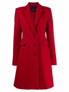 Pinko single-breasted coat - Red