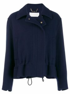 Chloé straight cropped jacket - Blue
