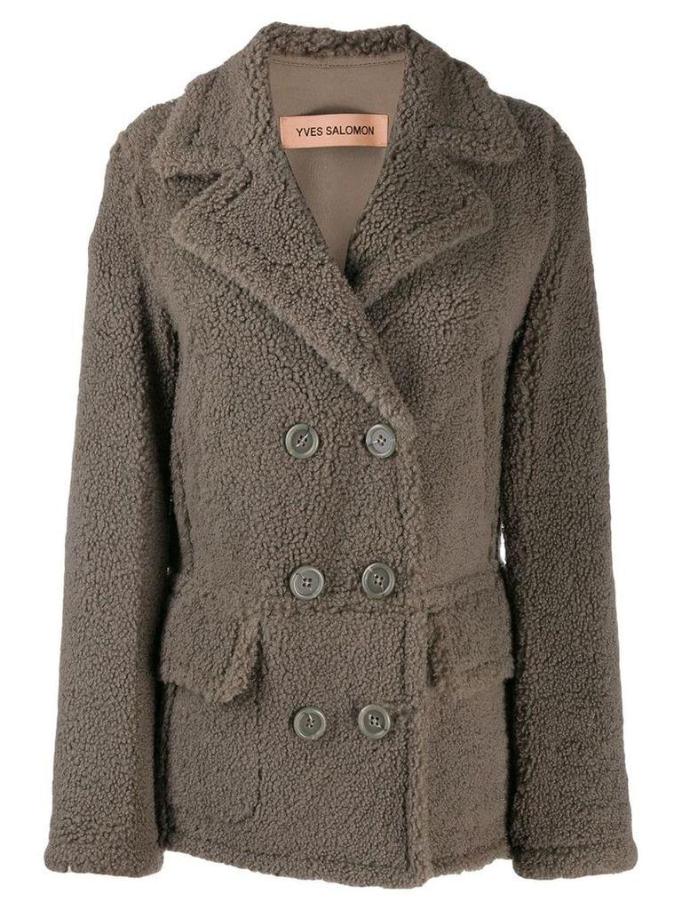 Yves Salomon Merinillo shearling coat - Grey