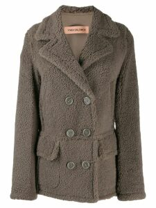 Yves Salomon Merinillo shearling coat - Grey