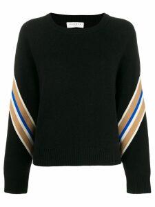 Sandro Paris Manuel contrasting sleeves sweater - Black