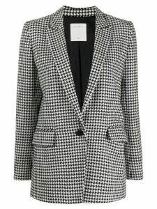 Sandro Paris houndstooth pattern blazer - Black