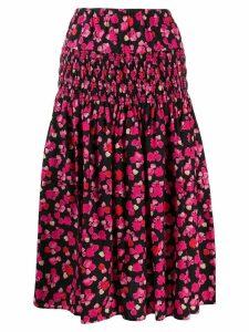 Kenzo floral print midi skirt - Pink