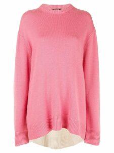 Derek Lam Oversized Contrast Back Cashmere Sweater - Pink