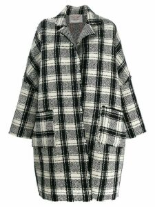 Stefano Mortari checked coat - Black