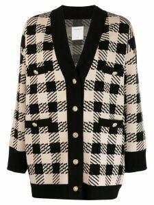Sandro Paris check pattern cardigan - Black